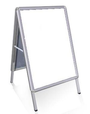 Aluminium stoepbord voor buiten