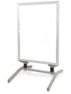 Aluminium stoepbord met staander