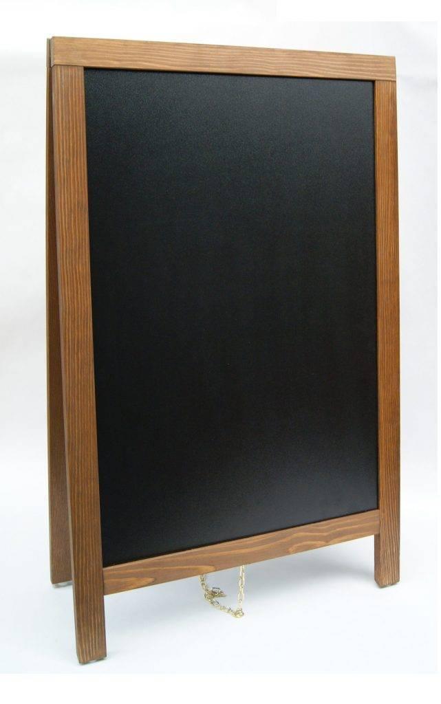 Houten stoepbord krijtbord