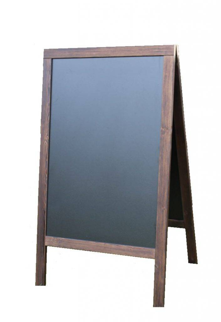 Houten stoepbord